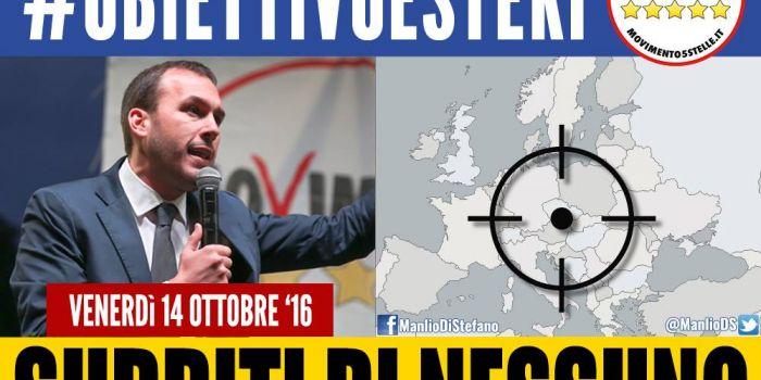 Manlio Di Stefano (M5S): «Quando governeremo, la Nato non potra' trattarci come sudditi. Mai piu'»