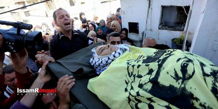 Saba Abu Ubeid, 23 anni. Morto per una pallottola al cuore di un cecchino israeliano