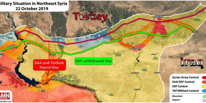 Cartina Africa E Siria.Nuova Mappa Della Siria Settentrionale Dopo L Accordo Sulla