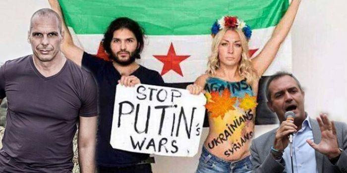 Grida al fascismo in Italia ma Varoufakis imbarca i fan dei neo-nazisti ucraini nel suo Movimento