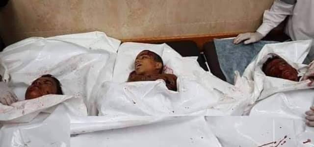 Gaza. Tre bambini fatti a pezzi da Israele