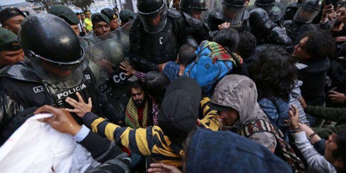 VIDEO. Erdogan Assassino!. Proteste contro la visita del presidente turco in Ecuador