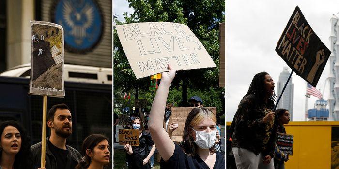 Non riesco a respirare, piangono i manifestanti statunitensi. Ma il mondo intero è stufo del ginocchio americano al collo