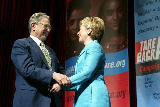 Clinton prende sei milioni di dollari da Soros per la corsa alla Casa Bianca
