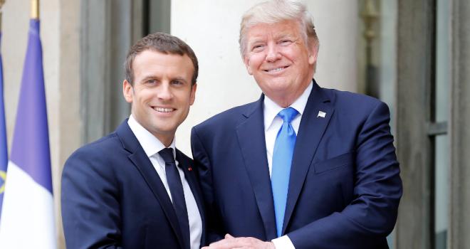 Macron getta definitivamente la sua maschera colonialista. Usa, Francia e alleati devono restare per costruire una 'nuova Siria'