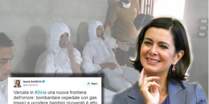 """Le bufale che spianano la guerra in Siria: """"l'inquisitrice"""" Boldrini in prima linea a diffonderle"""