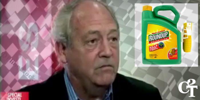 Non sono stupido, un lobbista della Monsanto in tv si rifiuta di bere l'erbicida che non vi fa male
