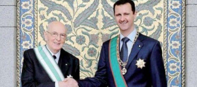 Giorgio Napolitano in Siria nel 2010: quando Assad non era un dittatore sanguinario