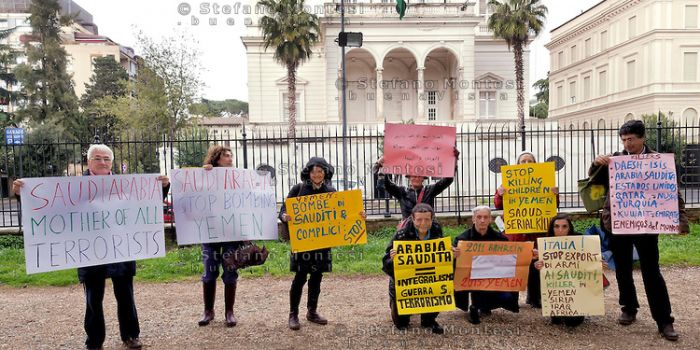 Yemen, l'Italia smetta di appoggiare i crimini sauditi. Rete No War